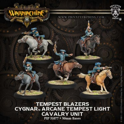 Cygnar Tempest Blazers Light Cavalry Unit (5)