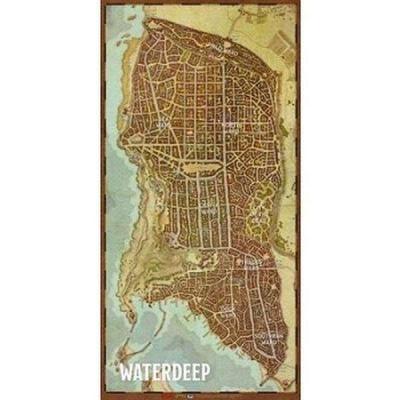 "Dungeons & Dragons RPG: Waterdeep Vinyl Game Mat 20""x40"""