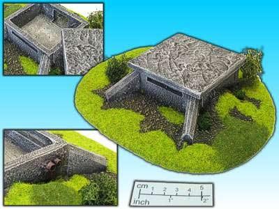 Geländestück Bunker (15mm)