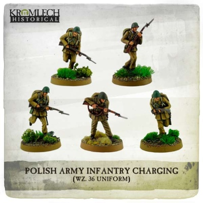Polish Army Infantry charging with rifles (5)