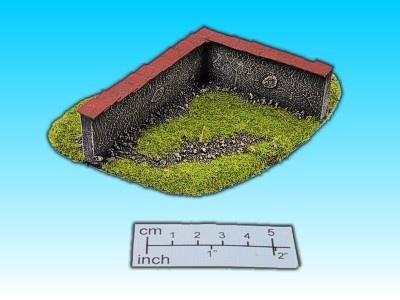 Geländestück Mauerecke