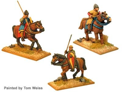 Unarmoured Norman Cav with spears (3)