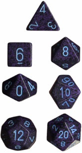 Chessex Cobalt Speckled 7-Die Set