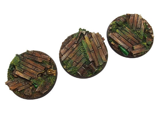 Wood Bases, Round 50mm (2)
