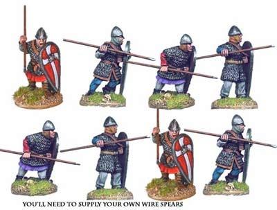 Norman Spearmen in Chain I (8 figs)