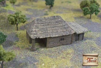 Big peasant hut with attachment (BOX)