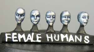 Human female heads (a) Sprue of 5 (5)