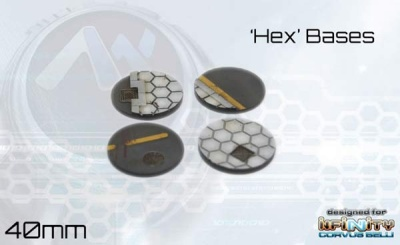 Hex Bases - 40mm round (4)