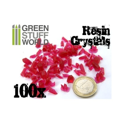 Crystals Resin RED