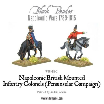 Mounted Napoleonic British Infantry Officers(PensinsularWar)