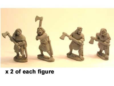 Irish Noble warriors with 2 handed axes (8)