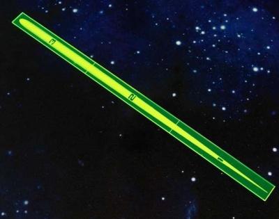 Space Fighter Range Ruler GREEN