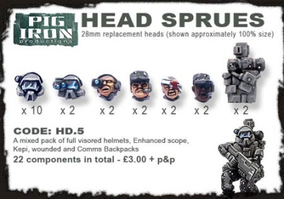 Hvy. Inf. Mixed Head Sprues (20)
