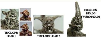 Triclops Heads (3)