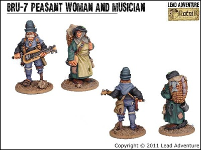 Peasant Woman and Musician (2)