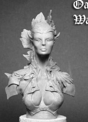 Oak Elf Warrioress Bust