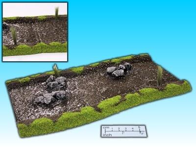 Geländestück Fluß mit Felsen