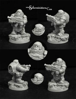 28mm/30mm SF Dwarf Marine #3 (1)
