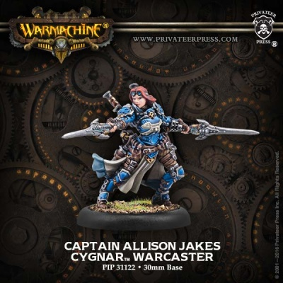 Cygnar Warcaster Captain Allison Jakes