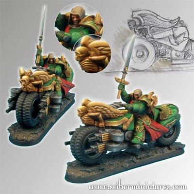 28mm SF Angel Knight Motorcycle