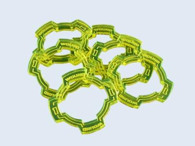 Wound Rings Green (6) (OOP)