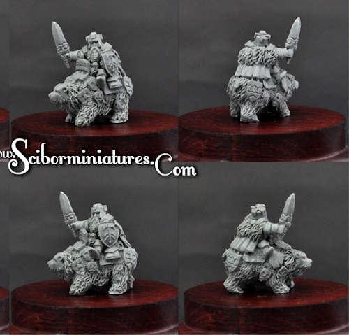 15mm Dwarf Lord on War Bear #3