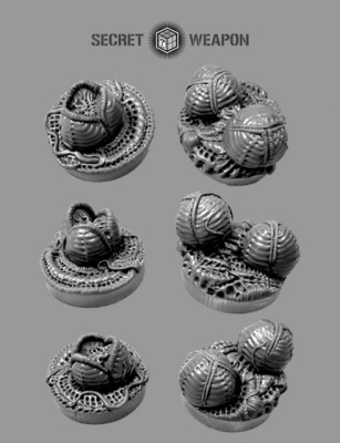 25mm Alien Invasion Objective Markers (6)