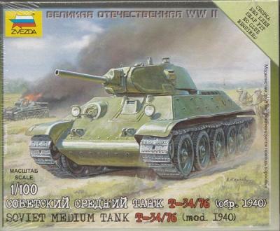 1:100 Wargame AddOn: Soviet T-34/76