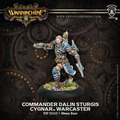 Cygnar Warcaster Commander Dalin Sturgis