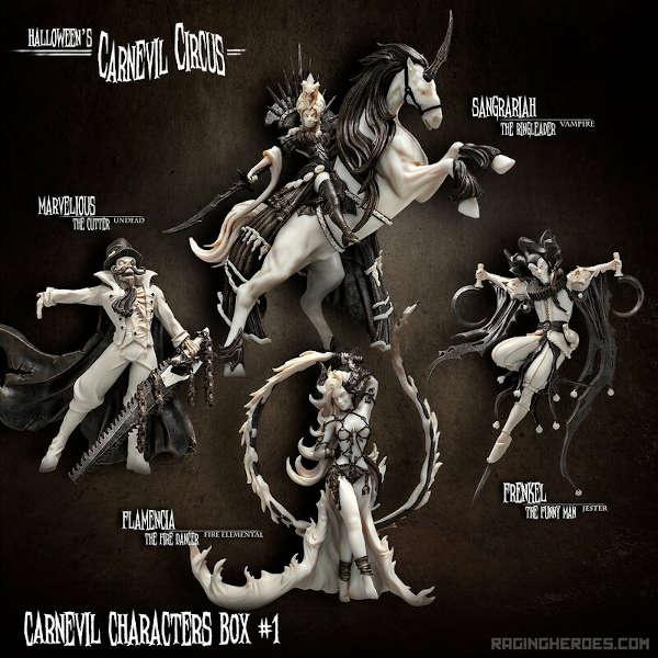 Carnevil Characters Box #1 (CC - F)