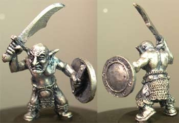 Csaba, male goblin with shield and sword