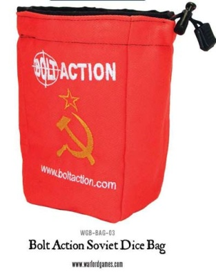 Bolt Action Soviet Dice Bag & Dice (Red)