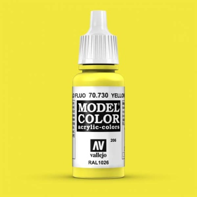 Model Color 206 Leuchtgelb (Yelow Fluo) (730)