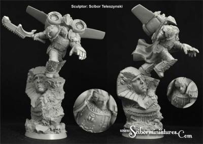 28mm Egyptian SF Warrior Jetpack #3 (1)