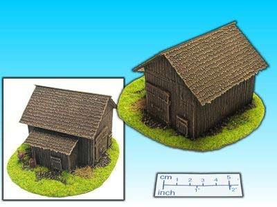 Geländestück große Scheune (15mm)