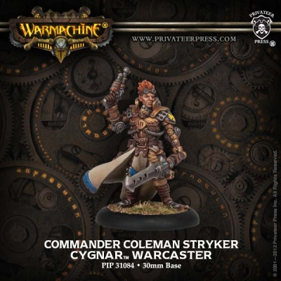 Cygnar Warcaster Comm. Coleman Stryker Resculpt