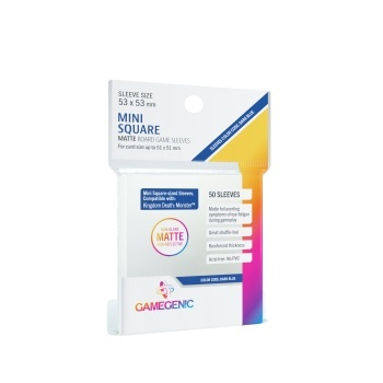 MATTE Mini Square-Sized Sleeves 53 x 53 mm - Clear (50)