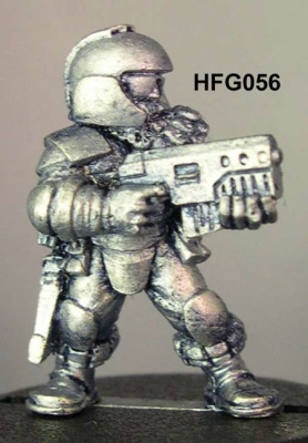 Jinso (b), Helmeted light infantry trooper with SMG
