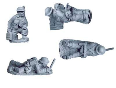 """British 2"""" Mortar Teams (4 figs)"""