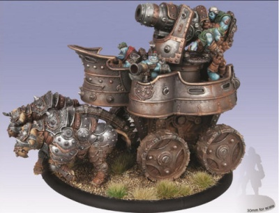 Trollblood War Wagon Cavalry Battle Engine (plastic)