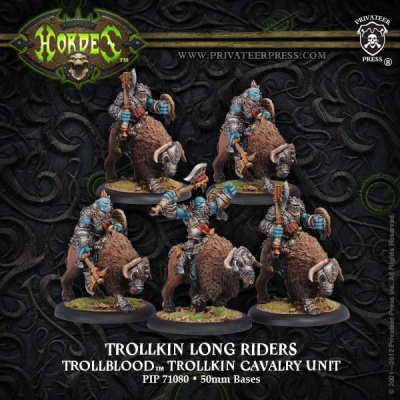Trollblood Trollkin Long Riders Cavalry Unit (5)
