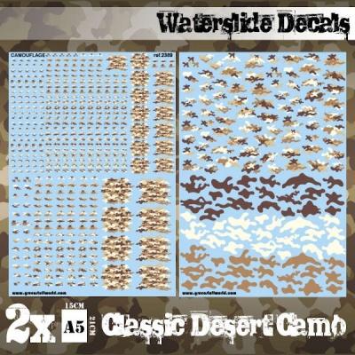 Waterslide Decals - Classic Desert Camo