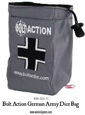 Bolt Action German Dice Bag & Dice (Grey)