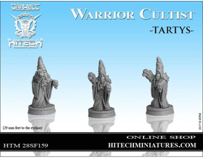 28mm  Warrior Cultist Tartys