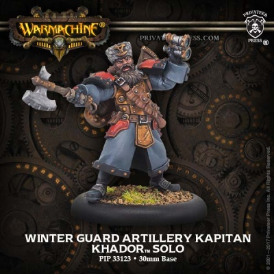 Khador Solo Winter Guard Artillery Kaptain