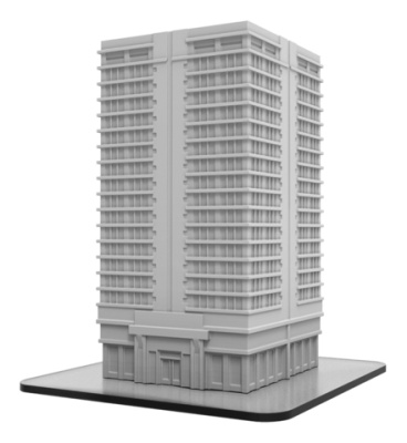 Apartment Building - Monsterpocalypse Building (resin)
