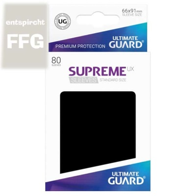 Supreme UX Sleeves Standard Size Schwarz (80)