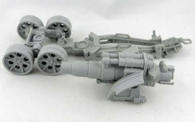FORGEWORLD: DKK Medusa Siege Gun Cannon mit Crew