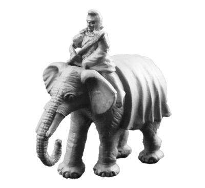 Carthaginian Elephant w/Mahout (B)