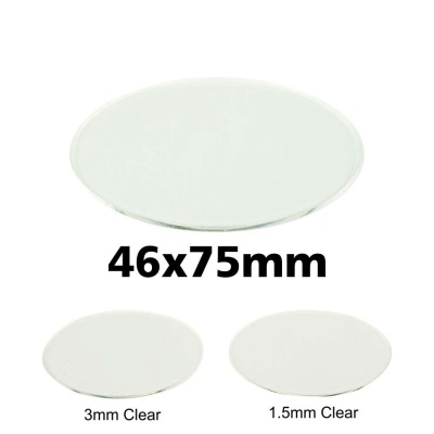 Clear Miniature Base, Oval 46x75x1,5mm